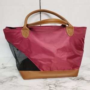 Heart To Tail Pet Carrier Faux Leather Tote Bag